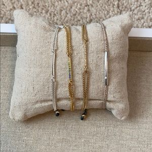 Lot of four bracelets adjustable length stella dot